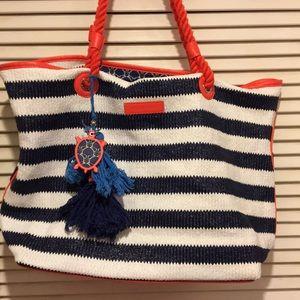 VB beach bag.